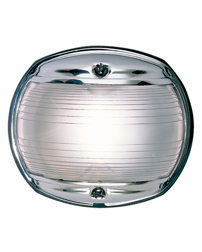 White Masthead Navigation Light (Chrome)