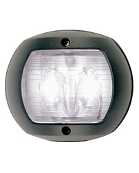 LED White Stern Navigation Light (Black Polymer)