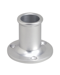 Upright Flag Pole Socket - Straight Bow (Marinium)