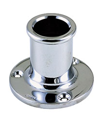 Upright Flag Pole Socket - Straight Bow
