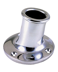 Upright Flag Pole Socket - 13° Angle Stern