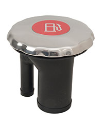 Sealed Ratcheting Cap Fills with Pressure Relief and Color Coded Metallic Insert - Straight Neck