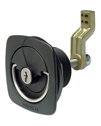 Flush Lock & Latch For Carpeted Surfaces