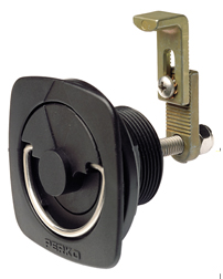 Flush Lock and Latch for Carpeted Surfaces