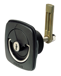 Flush Lock and Latch for Smooth or Carpeted Surfaces