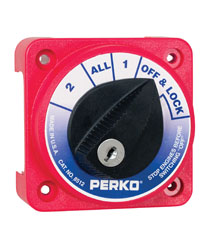 Compact Medium Duty Battery Selector Switch with Key Lock