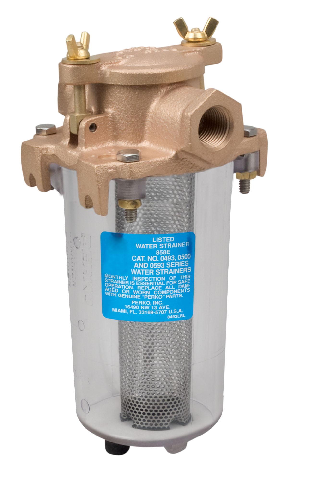 "Perko Transparent Cylinder for Intake Strainer 3//4/"" Pipe"