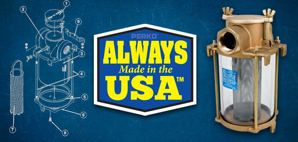Always Made in the USA - Raw Intake Water Strainer