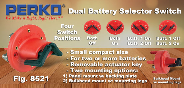 Dual Battery Selector Switch